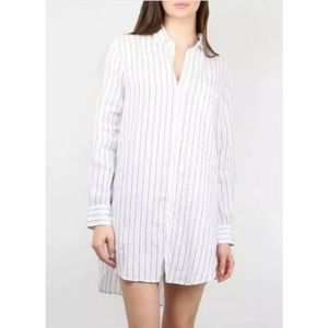 Frank & Eileen Mary Striped Shirt Dress